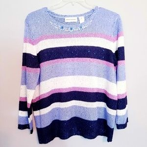ALFRED DUNNER | CREW NECK SWEATER | SIZE XL